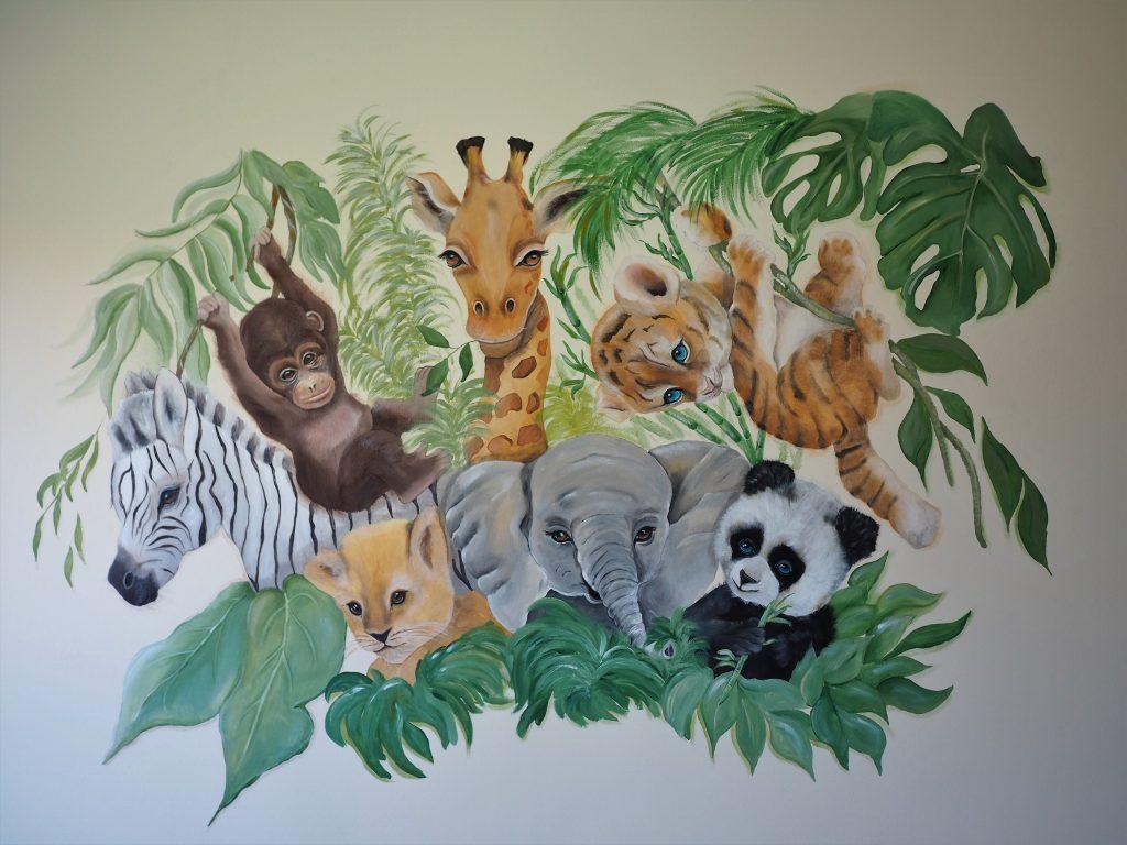 Jungle in de babykamer
