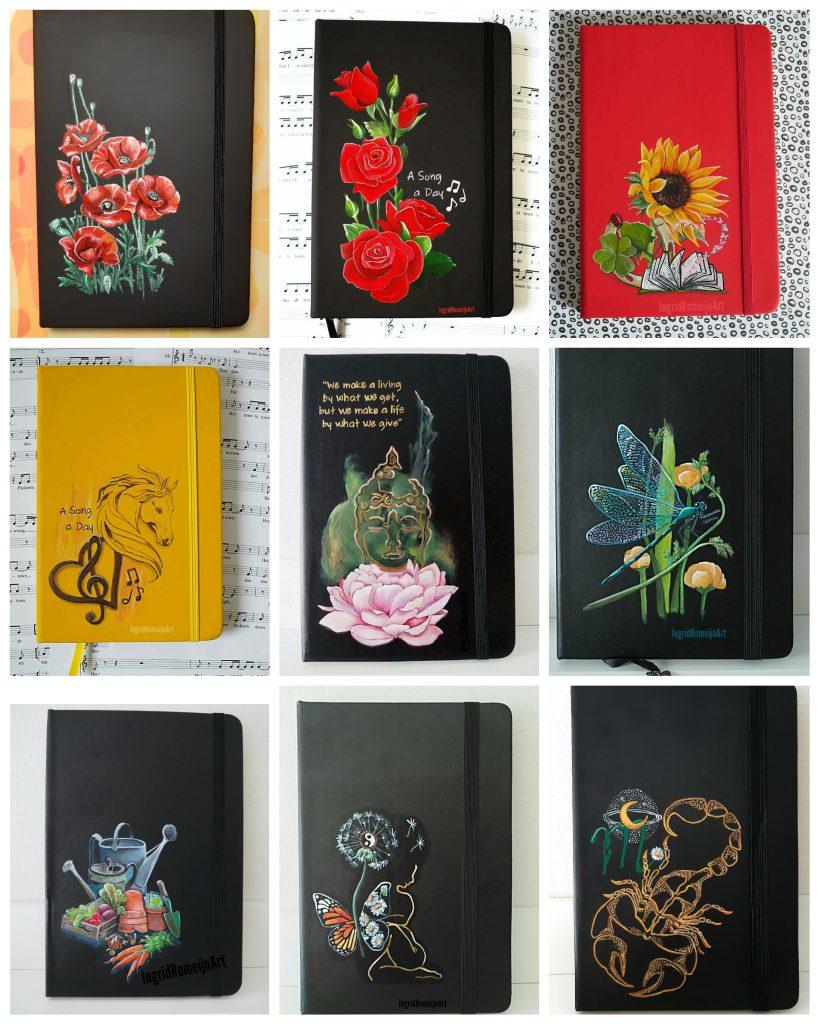 Gepersonaliseerde Notebooks- Handpainted